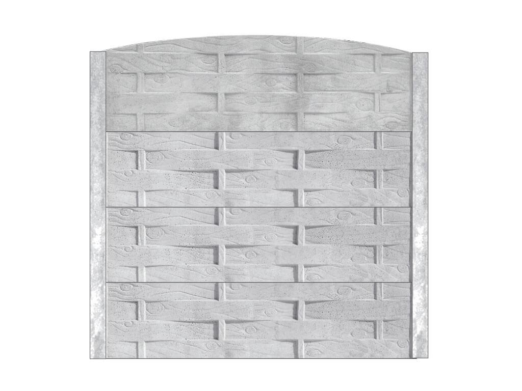 Ogrodzenie betonowe M58